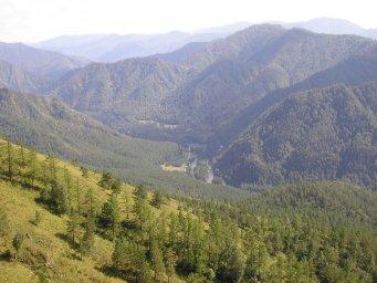 Чемал вид с горы Крестовая